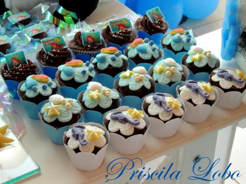 Cup Cake Fundo do Mar.